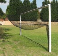Aluminium goal post -  Elliptical Socketed 21'x7' - single football goalpost